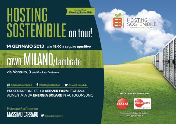 Milano 14/1 Hosting Sostenibile al Cowo